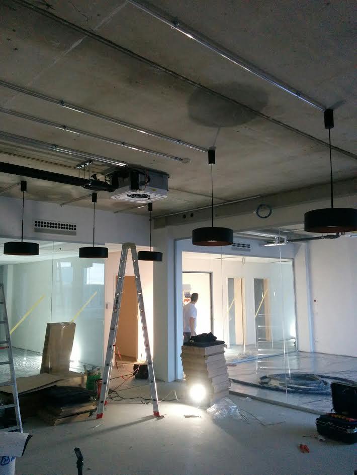 Installation of lights